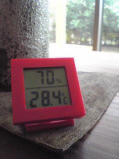 今日の自然回帰の家モデルハウスの湿度は?