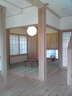自然回帰の家モデルハウスの和室